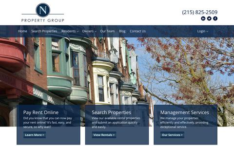 Screenshot of Home Page npropertygroup.com - Home - N Property Group - captured Oct. 18, 2018