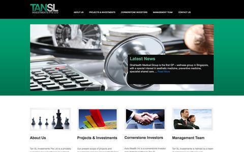 Screenshot of Home Page tansl.com - tansl.com - captured Oct. 9, 2014