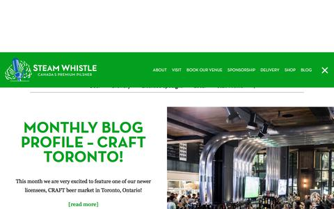 Screenshot of Blog steamwhistle.ca - Steam Whistle Blog - News & Stories from the Good Beer Folk - captured April 17, 2018