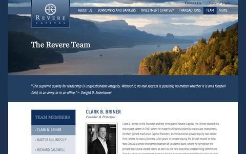 Screenshot of Team Page reverecapital.com - Team - Revere Capital - captured March 17, 2018