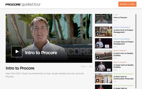 Get to know Procore | Guided Tour