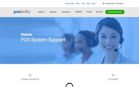 Screenshot of Support Page posterita.com - Exceptional Customer Support / Posterita POS - captured Dec. 10, 2015