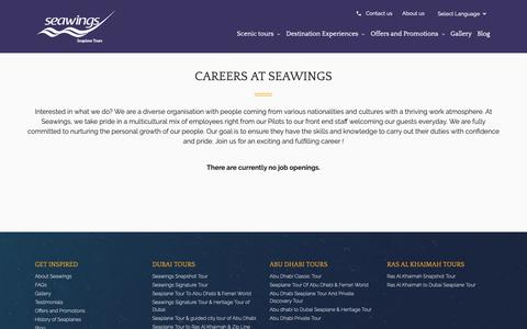 Screenshot of Jobs Page seawings.ae - Seawings Dubai Careers - Dubai Seaplane Tours - captured Nov. 8, 2018