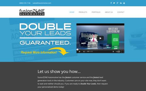 Screenshot of Home Page fzautomotive.com - Car Dealer Websites | Dealership Websites | fusionZONE Automotive - captured Sept. 21, 2015
