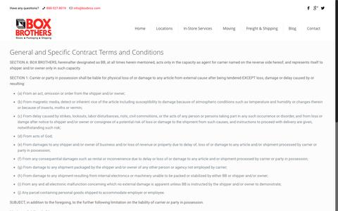 Screenshot of Terms Page boxbros.com - Terms and Conditions | Box Brother Corporate Website - captured Nov. 23, 2016