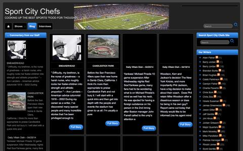 Screenshot of Blog sportcitychefs.com - All Sports Interviews   Sport City Chefs - captured Feb. 27, 2016