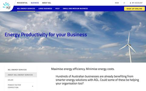 About Energy Services for Businesses | AGL