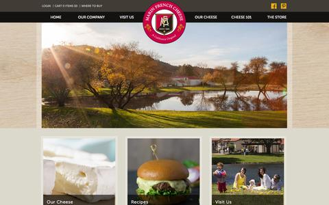 Screenshot of Home Page marinfrenchcheese.com - Marin French Cheese - captured Oct. 4, 2014