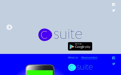 Screenshot of Home Page csuiteapp.com - cSuite | Email & Productivity App (Android, iOS) | Free Download | cSuiteApp - captured Nov. 13, 2016
