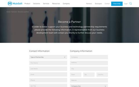 Become a Partner | MuleSoft