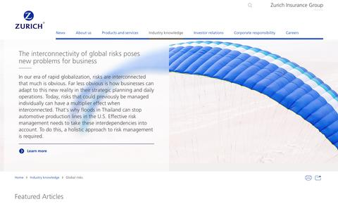 Global risks | Topic | Zurich Insurance
