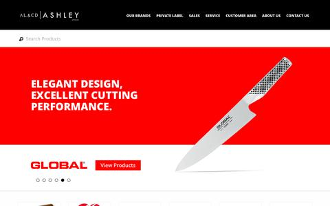 Screenshot of Home Page alcdashley.co.za - AL & CD Ashley - South African Distributors of famous houseware and kitchenware brands - captured Nov. 19, 2016