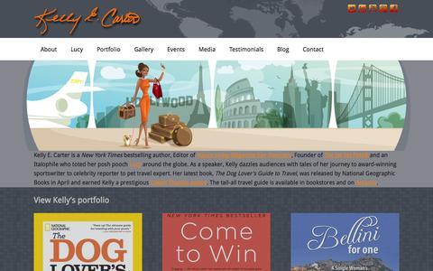 Screenshot of Blog kellyecarter.com - Kelly E. Carter - Never at a loss for words - captured Oct. 8, 2014