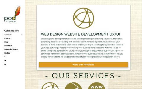 Screenshot of Services Page podcreative.ca - Web Design Website Development UX UI | Pod Creative - captured May 1, 2017