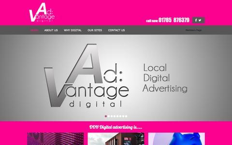 Screenshot of Home Page ad-v.co.uk - AdVantage Digital - captured Oct. 4, 2014