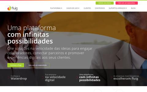 Screenshot of Home Page fluig.com - Home - Fluig - captured Aug. 16, 2018