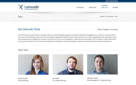 Screenshot of Team Page lemundo.de - Lemundo GmbH | Team - E-Commerce Agentur aus Hamburg - captured Sept. 23, 2014