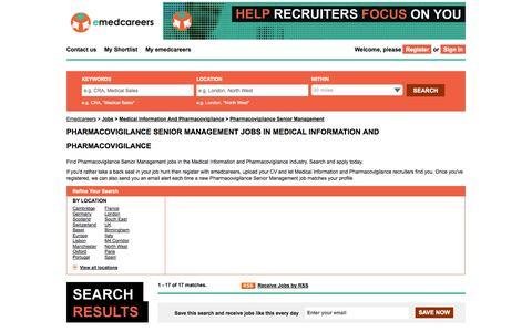 Screenshot of Team Page emedcareers.com - Pharmacovigilance Senior Management Jobs  - Medical Information and Pharmacovigilance Sector | emedcareers, UK - captured Sept. 23, 2014