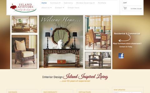 Screenshot of Home Page islandattitudesmaui.com - Homepage   Island Attitudes Maui - captured Oct. 6, 2014