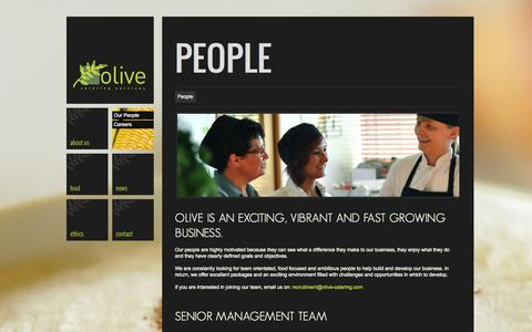 Screenshot of Team Page olive-catering.com - People - Olive Catering | Olive Catering - captured Oct. 26, 2014