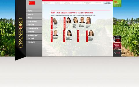 Screenshot of Team Page cranefordwines.com - Craneford Wines -  Our People - captured Sept. 30, 2014