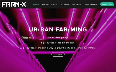 Screenshot of Home Page farm-x.com - Farm-X - captured Sept. 30, 2014