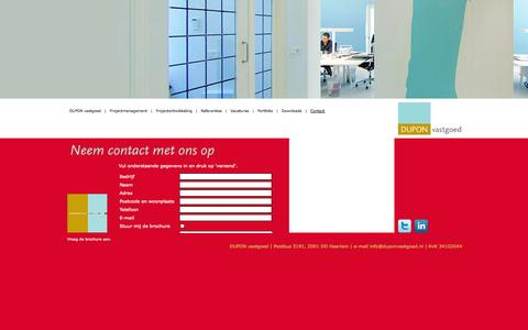 Screenshot of Contact Page duponvastgoed.nl - Dupon Vastgoed | Contact - captured Oct. 8, 2014