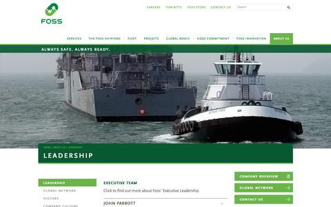 Screenshot of Team Page foss.com - Leadership - Foss Maritime Company, LLC - captured Dec. 19, 2018