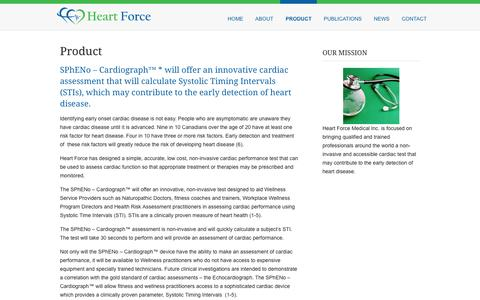 Screenshot of Products Page heartforcemedical.com - Product - Heart Force Medical Inc. - captured Oct. 27, 2014