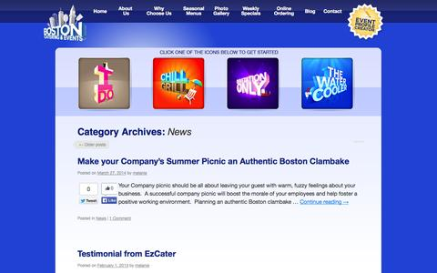 Screenshot of Press Page bostoncater.com - News   Boston Cater and Cafe - captured Oct. 5, 2014