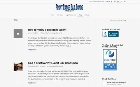Screenshot of Blog frontrangebb.com - Blog - Front Range Bail Bonds - captured Oct. 6, 2014