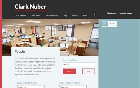Screenshot of Team Page clarknuber.com - People - captured Sept. 29, 2014