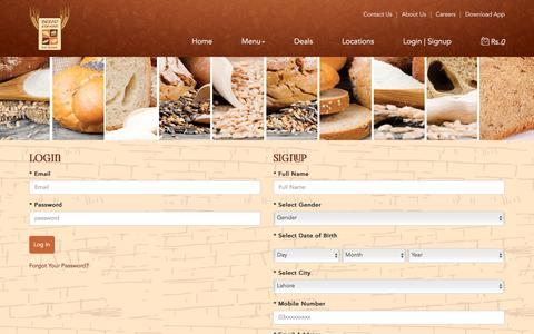 Screenshot of Signup Page breadbeyond.com - Bread Beyond - Just Baked - captured Aug. 3, 2018