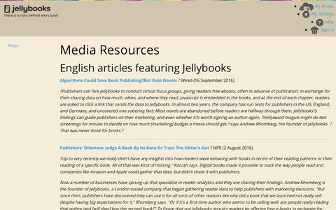 Jellybooks - Press  - Pages