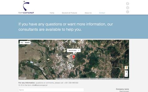 Screenshot of Contact Page iberconcept.com - iberconcept | Contact - captured May 26, 2017