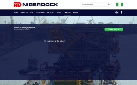 Screenshot of Jobs Page nigerdock.com - Nigerdock - Careers - captured Oct. 7, 2014