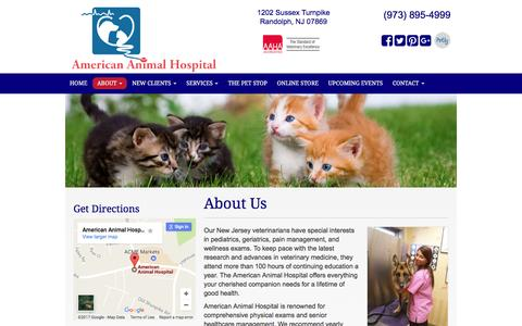 Screenshot of About Page americananimalhospital.com - About Us - Randolph Veterinarian   American Animal Hospital - captured May 30, 2017