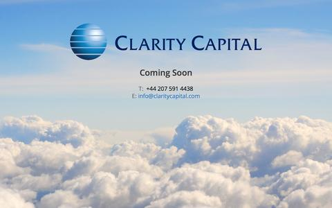 Screenshot of Team Page claritycapital.com - Clarity Capital - We Build Business - captured Sept. 29, 2014