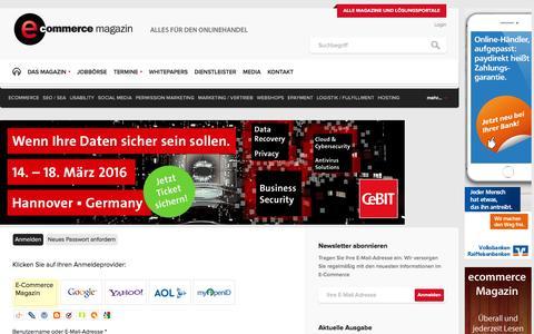 Screenshot of Login Page e-commerce-magazin.de - Login | E-Commerce Magazin - captured Feb. 10, 2016