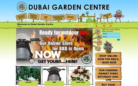 Screenshot of Home Page dubaigardencentre.ae - Dubai Garden Centre - captured Jan. 28, 2015