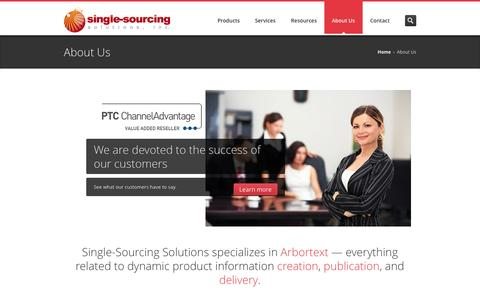 Screenshot of About Page single-sourcing.com - About Us - Single-Sourcing Solutions - captured Oct. 4, 2014