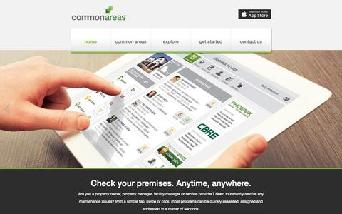 Screenshot of Home Page Menu Page commonareas.com - Common Areas | Check Your Premises - captured Sept. 30, 2014