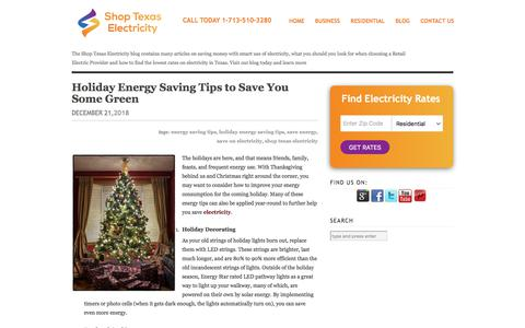 Screenshot of Blog shoptexaselectricity.com - Shop Texas Electricity Blog - Energy Saving Tips - captured Jan. 11, 2020