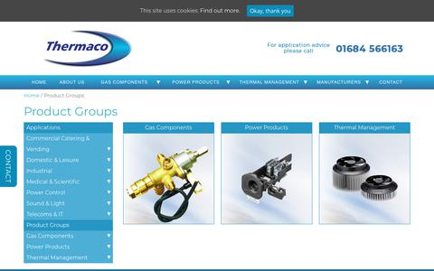 Screenshot of Products Page thermaco.co.uk - Product Groups Archives - Thermaco - captured Oct. 20, 2018