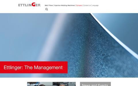 Screenshot of Team Page ettlinger.com - Management - captured Aug. 29, 2017