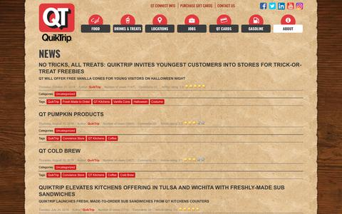 Screenshot of Press Page quiktrip.com - QuikTrip Corporation > About > News - captured Dec. 8, 2018
