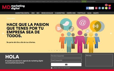 Screenshot of Home Page mdmarketingdigital.com - Agencia de Marketing Digital - MD Marketing Digital - captured Dec. 20, 2015