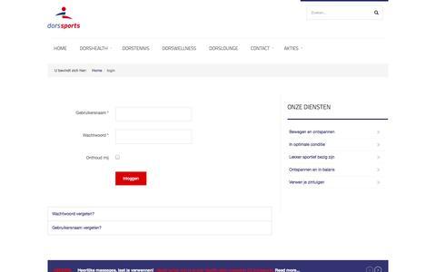 Screenshot of Login Page dorssports.nl - login - Dorssports de All-in Healthclub van Heiloo! - captured Sept. 30, 2014