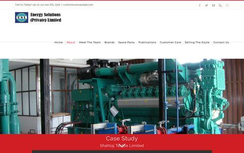Screenshot of Case Studies Page eslpk.com - ESL Case Studies - Energy Solutions Pvt Ltd - A Leading Generator Distributor Company in Pakistan - captured Nov. 10, 2018