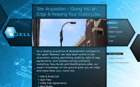 Screenshot of Services Page buellconsulting.com - Site Acquisition | Buell Consulting - captured Oct. 5, 2014